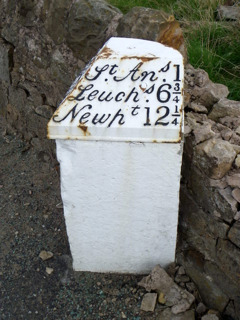 Milestone near St Andrews