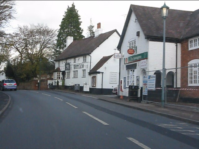 Hampton in Arden - post office and White Lion pub