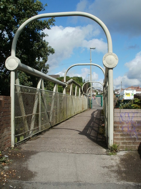 Tubewrights footbridge, Trecenydd, Caerphilly