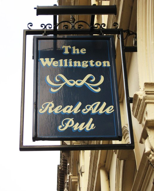 The Wellington (2) - sign, 37 Bennetts Hill, Birmingham