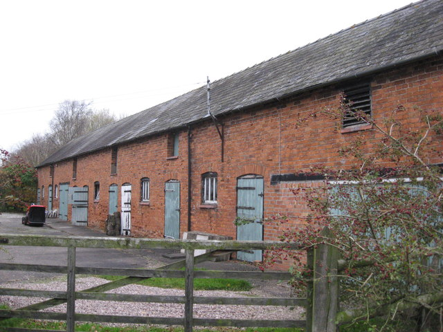 Front of former stable block at Bawk House Farm
