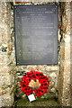 SW6838 : Pencoys first memorial slate by Elizabeth Scott