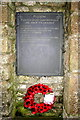 SW6838 : Pencoys fourth memorial slate by Elizabeth Scott