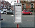 SJ9494 : Timetable on a pole by Gerald England