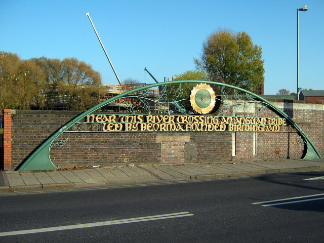 "Bridge Over River Rea ""Near This River Crossing Was Founded Birmingham"""