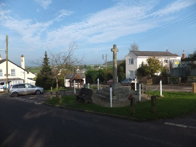 The war memorial and post office