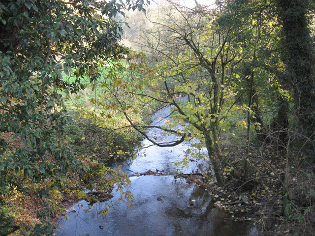 Ash Brook downstream from Darnhall Bridge