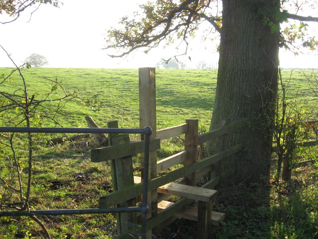Stile & Path to Hilltop Farm