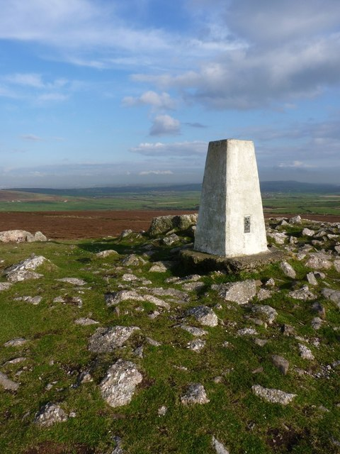 Summit trig on Rhossili Down