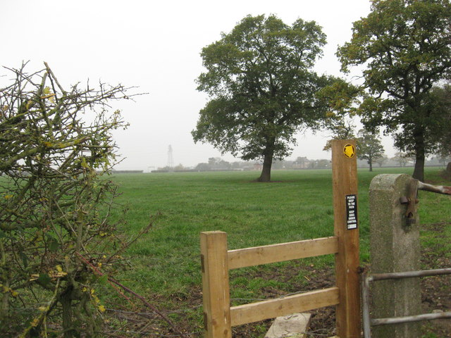 Stile & Footpath at Stove Room Wood