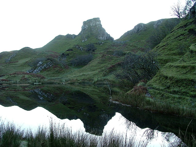 Castle Ewen reflected on Lochan Mor Rhugh