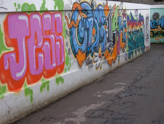 Graffiti in underpass to Chesterton