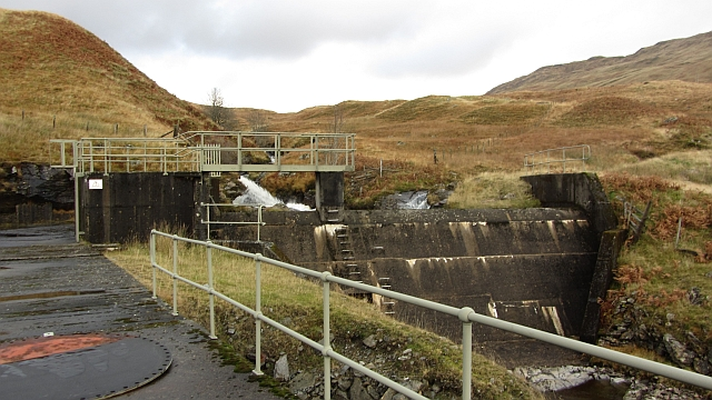Cut off weir, Glen Lochay