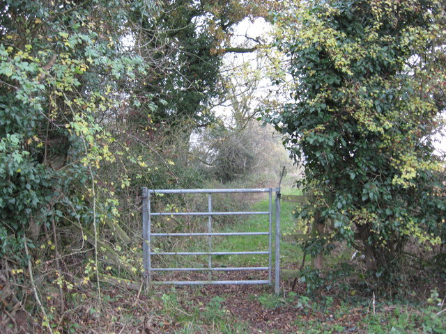Gateway at the start of a public footpath