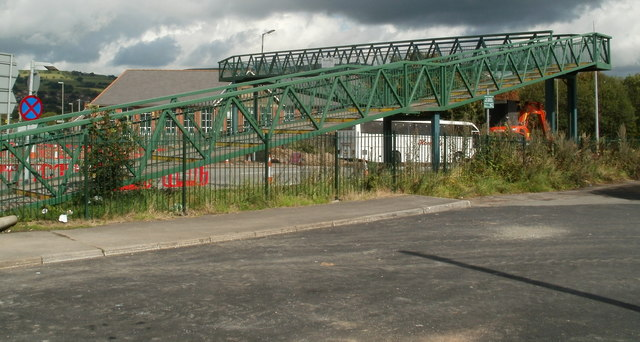 A468 footbridge, Caerphilly