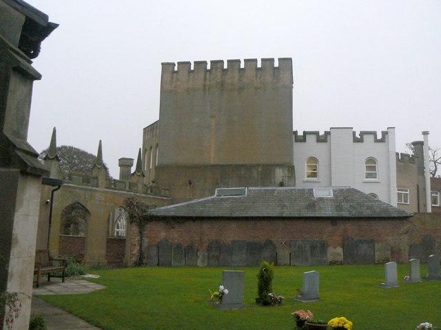 tollerton hall from the churchyard  u00a9 alan murray