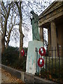 TQ3377 : War memorial in front of St George's Church, Wells Way by Ian Yarham