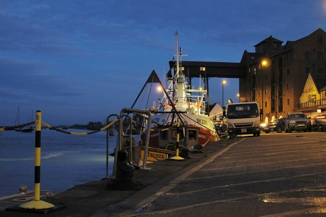 Unloading the catch at Wells-next-the-Sea