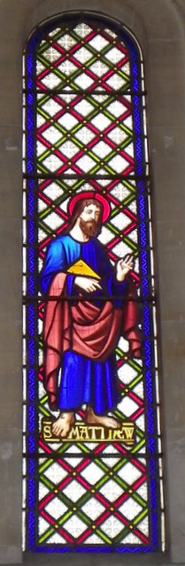 Stained glass window, St Luke's Church