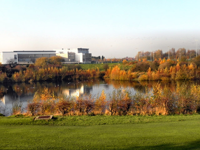 Gorton Upper Reservoir and Wright Robinson Sports College