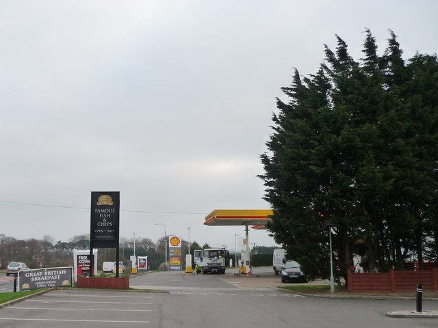 Shell garage on the A64, Staxton
