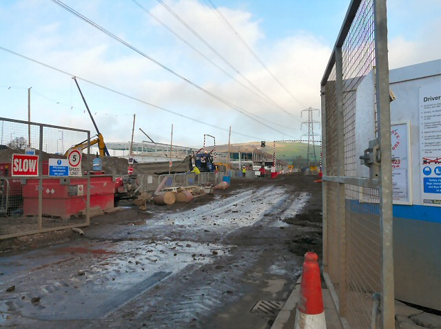 Tesco construction site