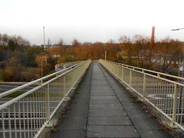 Footbridge Across the M67 at Hyde
