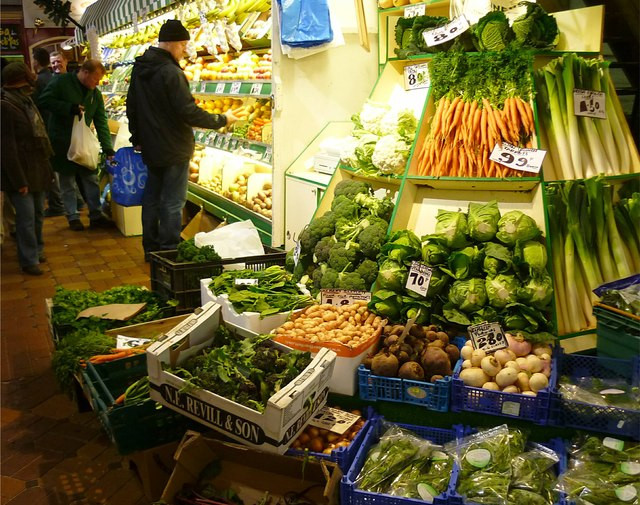 Greengrocer in the Covered Market