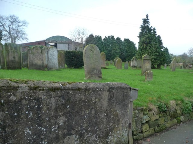 Western end of Folkton churchyard