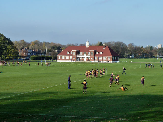 Playing fields and pavilion, Dulwich College