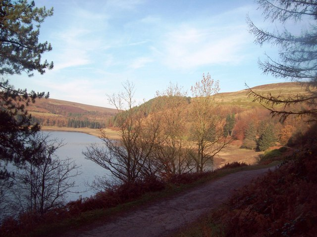 Bridleway and Upper Derwent Reservoir