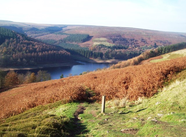 Path Overlooking Upper Derwent Reservoir