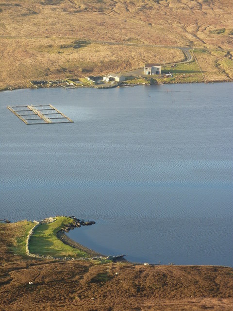 Fish farm on the Loch of Strom
