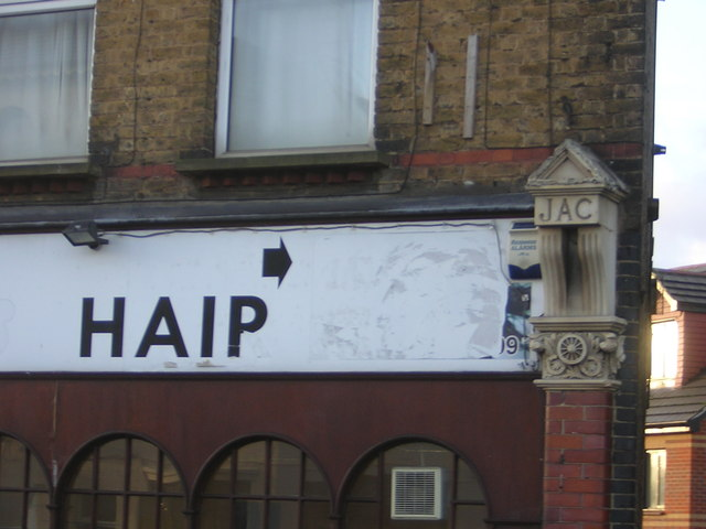Detail of building on corner of Clifton Road and Whitehorse Lane, Thornton Heath