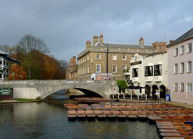 River Cam and Silver Street Bridge, Cambridge