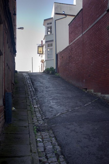 Lane off Blackboys Hill to the Port of Call, Bristol