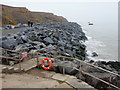 TM2623 : Walton on the Naze: boulders at The Naze by Chris Downer