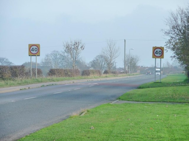 Speed limit on the A1039