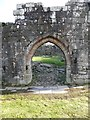 NX4895 : Entrance doorway, Loch Doon Castle by Humphrey Bolton