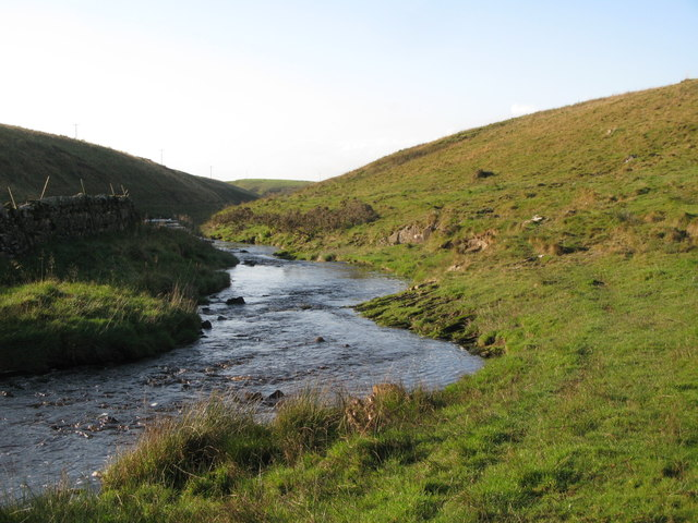 The Tipalt  Burn south of Moss Peteral