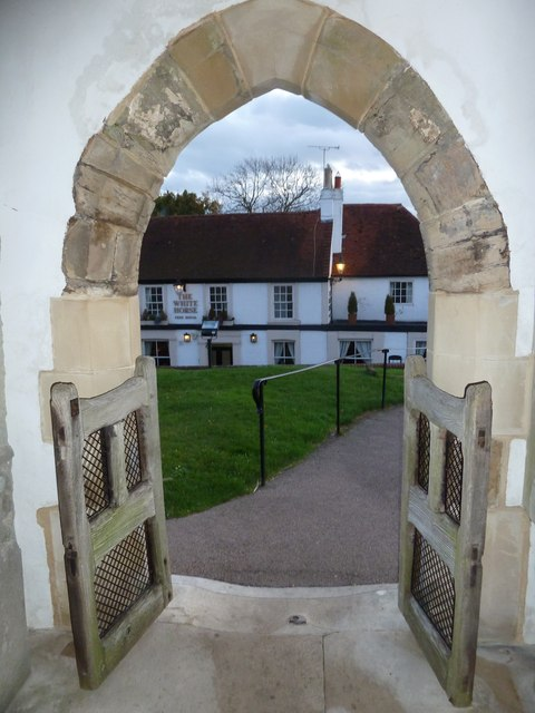 Looking from St Margaret's Porch towards The White Hart