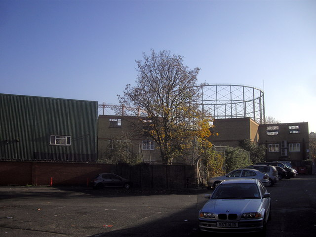 Gasholders near Old Kent Road London