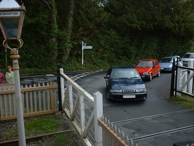 Level Crossing at Staverton Station New Lane Devon