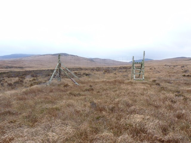 Rickety stile in moorland near Torra, Islay
