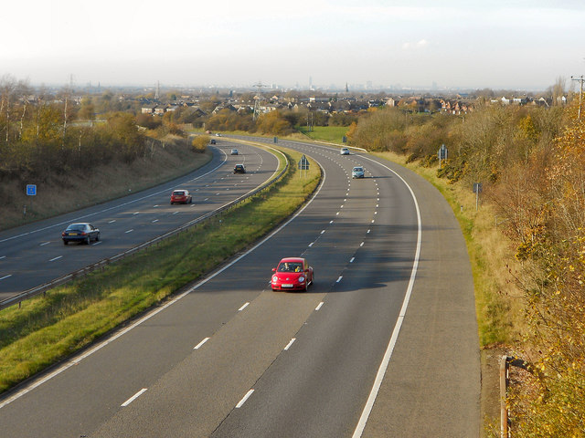 M67 Motorway From Hyde