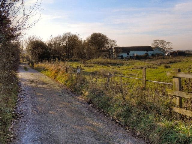 Track Past Tetlowfold Farm
