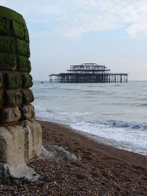 West Pier from the shore