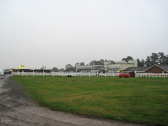 Ludlow racecourse from Bromfield road