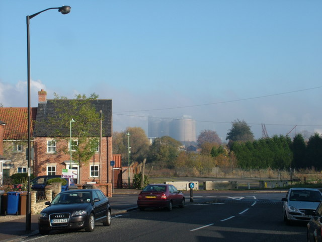 British Sugar factory in its own mist