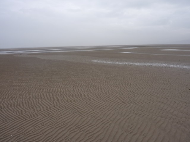 Sand in the Dee Estuary at low tide